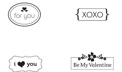 My Little Valentine stamps