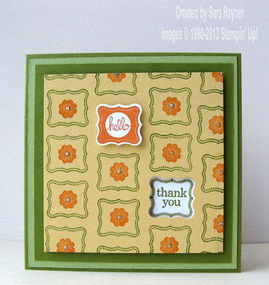 petite thank you card