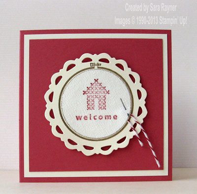 hoop la la welcome card