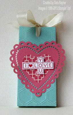 amore heart choc box
