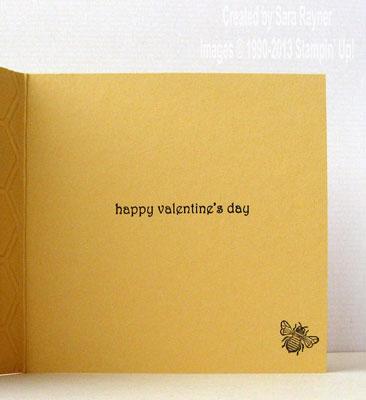 honeycomb card inside
