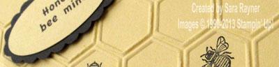 honeycomb card close up