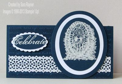 sentimental lace birthday card