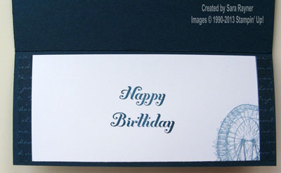 sentimental lace birthday card inside