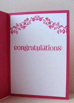 silver 1 congrats card inside