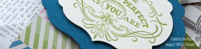 vintage verses box card close up