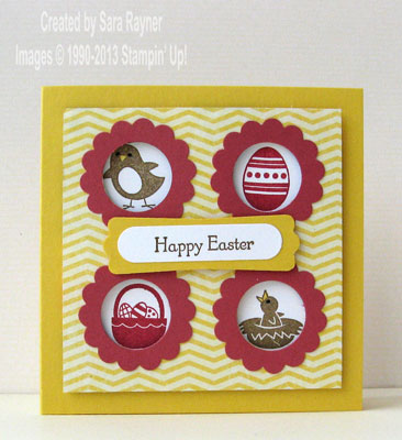 easter sampler card