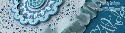 quintessential doily close up
