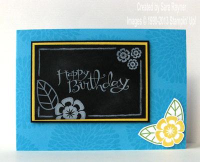 chalkboard card