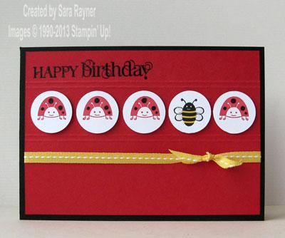 spring sampler birthday card