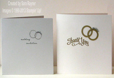 wedding cards side by side