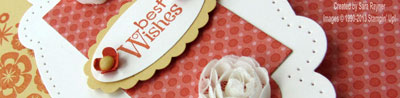 apothecary accent birthday card close up