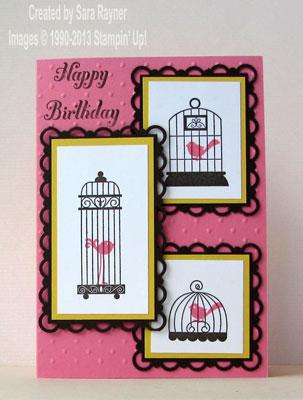 aviary birthday card