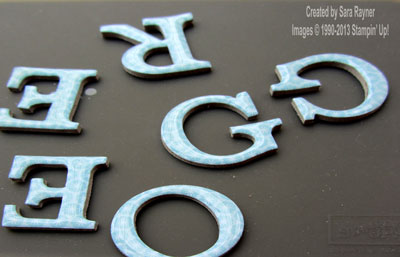 glossy letters