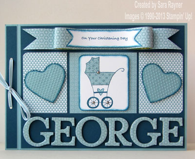 typeset alphabet christening card