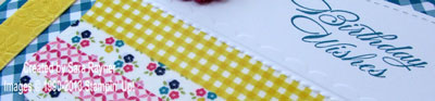 washi tape birthday close up