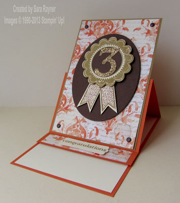 blue ribbon easel card