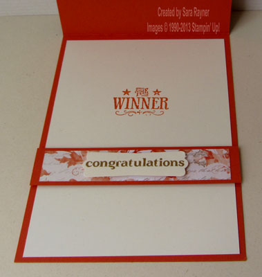 blue ribbon congrats inside