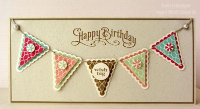 pennant birthday vanilla