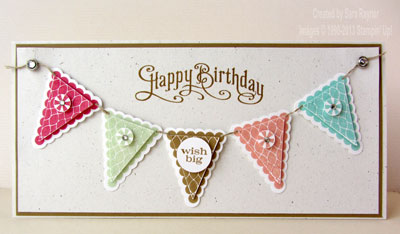 pennant birthday white