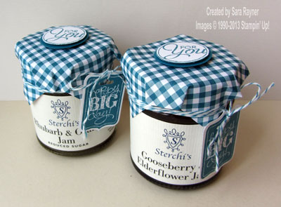 jam jars gift wrapped