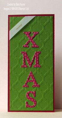 typeset xmas card