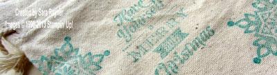 muslin bag close up