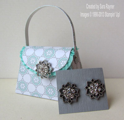 winter frost bag with earrings