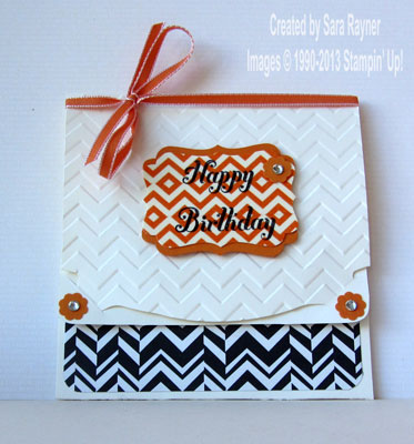 Chevron gift card holder