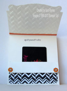 chevron gift card holder inside