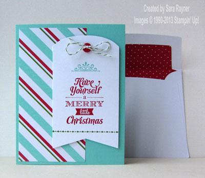 merry little xmas card kit