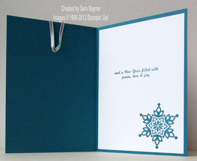 festive flurry ornament card inside