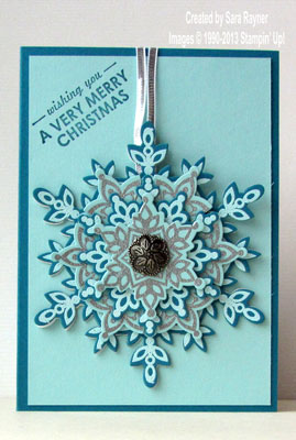 festive flurry ornament card