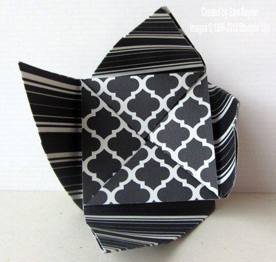 origami mint half open