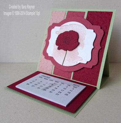 happy watercolor calendar open