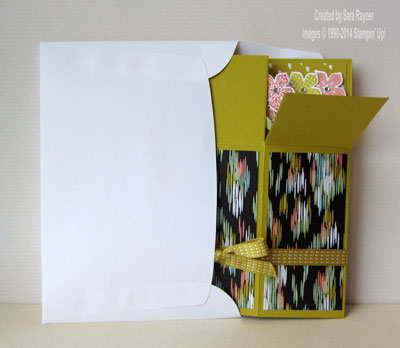 petite petals box card folded