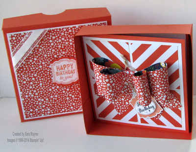 gift bow box open
