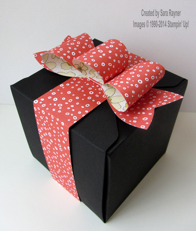 large gift wrapped box