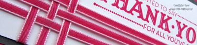 ribbon weave close up