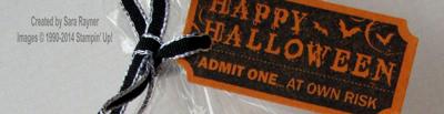 halloween ticket close up