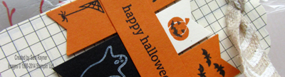 holiday home halloween tag close up