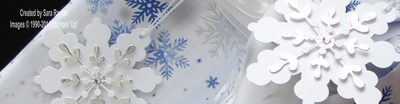 snowflake tag close up
