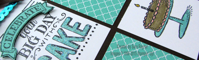 big day stamped close up