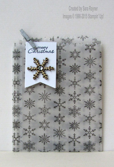 winter wonderland vellum bag
