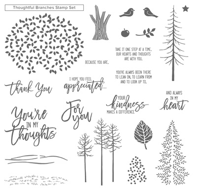 thoughtful branches stamps