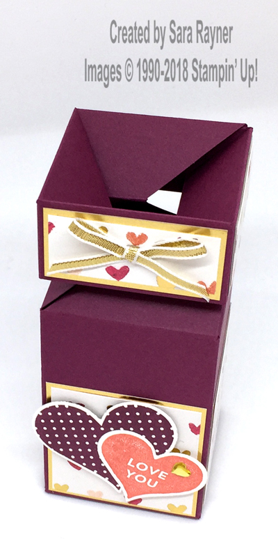 Painted With Love Valentine Box Saras Crafting And Stamping Studio