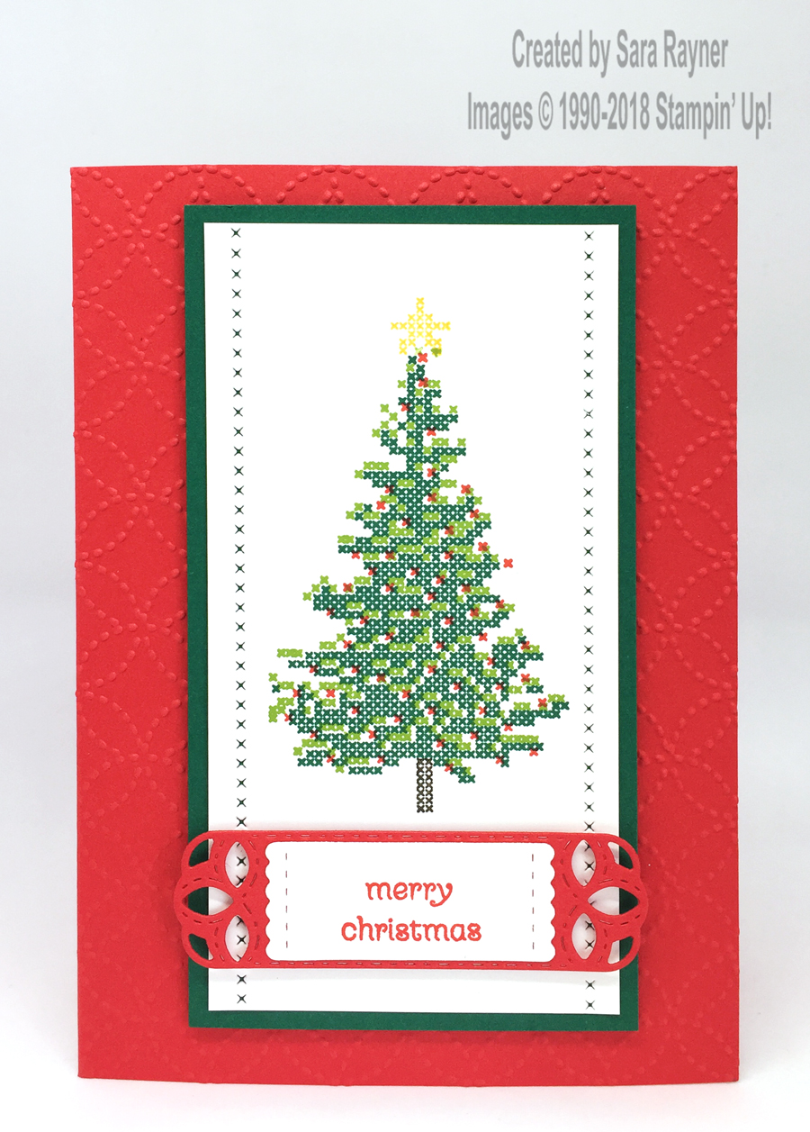 Cross-Stitched Christmas card – sneak peek   Sara\'s crafting and ...