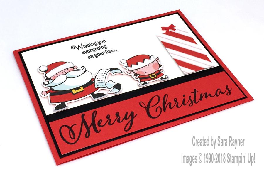 Santa\'s Signpost die cut Christmas card   Sara\'s crafting and ...