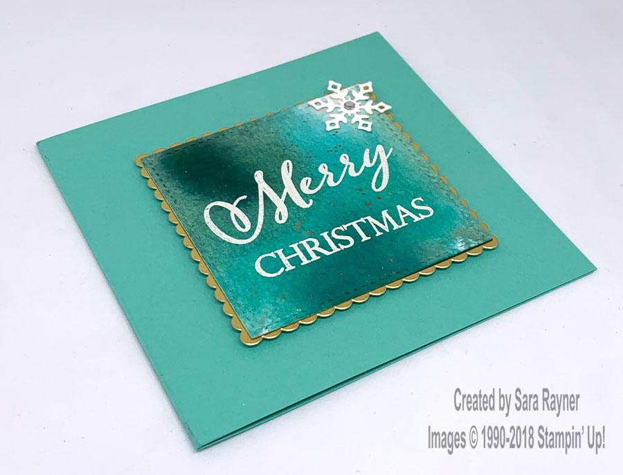 Coastal Cabana watercolour Christmas card   Sara\'s crafting and ...